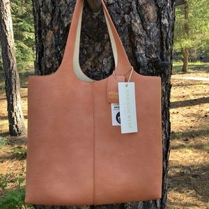 MADISON WEST VEGAN LEATHER TOTE SHOULDER BAG